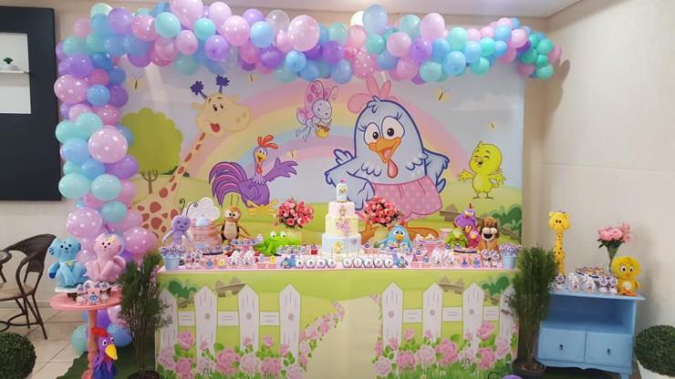 Galinha Pintadinha Rosa 1 Buffet Infantil Candy Kids